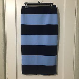 Zara blue striped skirt medium m